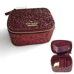 Kate Spade Jasmine Glitter Jewelry Case